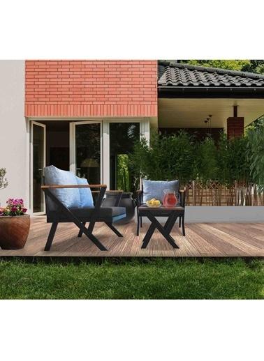 Woodesk Woodesk Begonvil BahÇe Takımı 2+1+Sehpa Cpt5532130 Gri